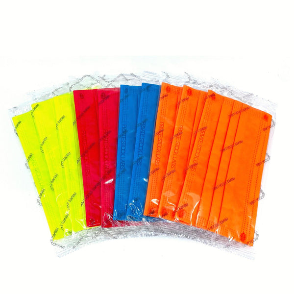 4-Ply Assorted Neon Protective Mask