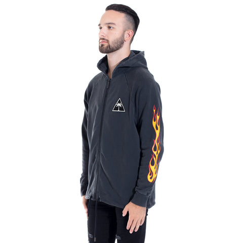 Palms and Flames Zip Up Hoody
