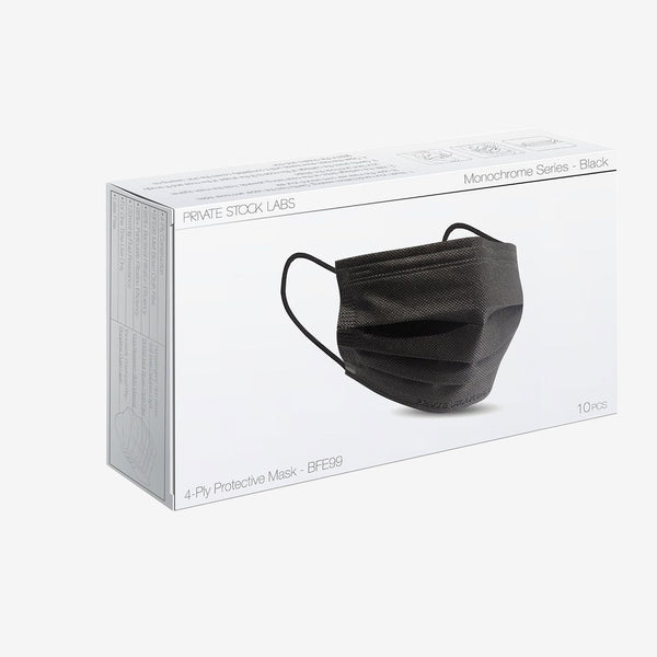 4-Ply Black Protective Mask
