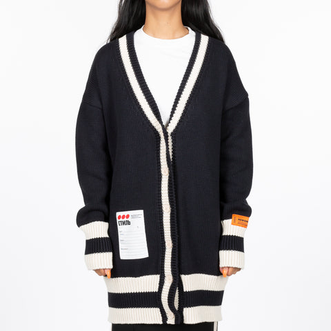 Ladies Label Oversize Cardigan