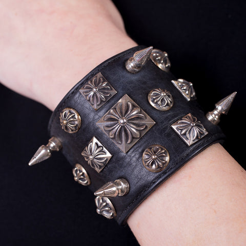 Chrome Hearts Disheveled Leather Bracelet at Feuille Luxury - 2