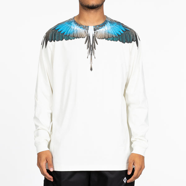 Turquoise Wings Long Sleeve Tee