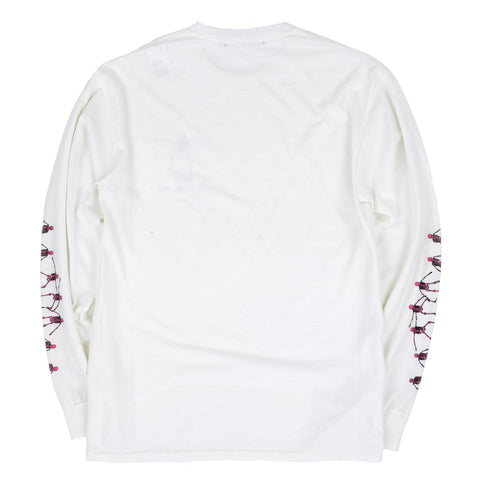 Skating Skulls Vintage Long Sleeve Tee
