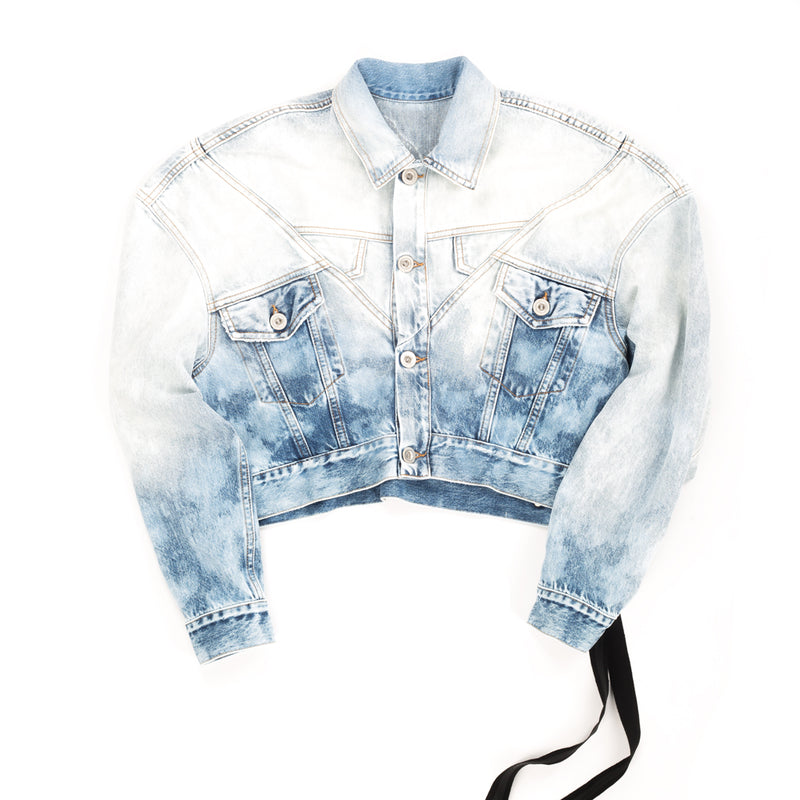 Lines Hybrid Chopped Denim Jacket