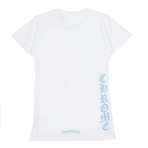 Ladies Baby Blue Script T-Shirt