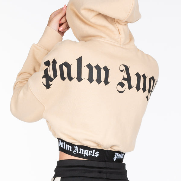 Banded Cropped Logo Hoody