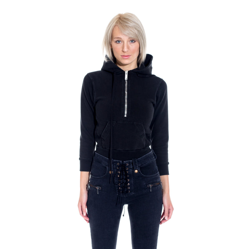 Terry Zip Body Hoody
