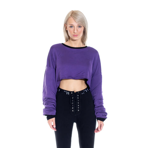 CC Reversible Crop Top Sweater