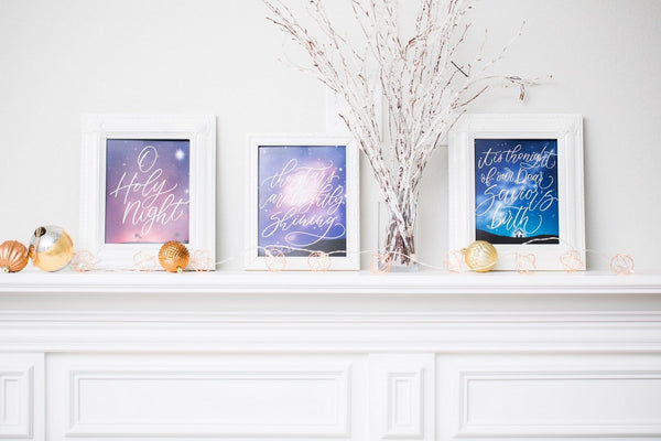 O Holy Night Watercolor Print Set