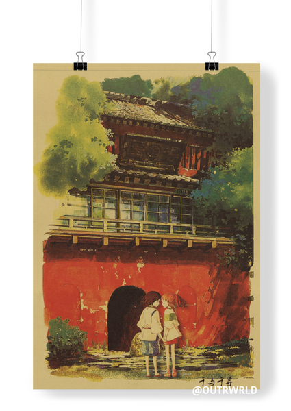 LARGE Spirited Away Original Japanese Movie Poster 20x14in (51x36cm)