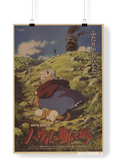 LARGE Howl's Moving Castle Original Japanese Movie Poster 20x14in (51x36cm)