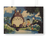 Totoro Characters Day Poster (Landscape)