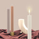 BLACK BLAZE COLUMN PILLAR CANDLE - CREAM WHITE - Ginger Dream