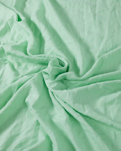 EXCLUSIVE COLOR - Neo Mint 100% French Flax Linen Quilt Cover Set - Ginger Dream