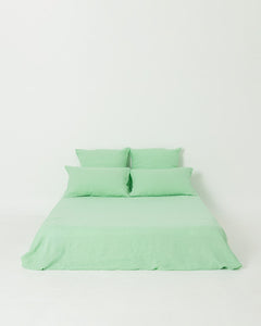 EXCLUSIVE COLOR - Neo Mint 100% French Flax Linen Sheet Set - Ginger Dream