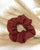 Ginger Dream Scrunchie - Rust - 100% French Flax Linen - Ginger Dream
