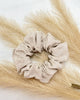 Ginger Dream Scrunchie - Oatmeal - 100% French Flax Linen - Ginger Dream