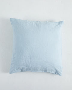 Linen European Pillowcase - Serenity Blue - 100% French Flax Linen - Ginger Dream