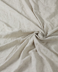 Oatmeal 100% French Flax Linen Sheet Set - Ginger Dream