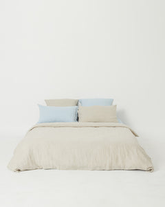 Oatmeal 100% French Flax Linen Quilt Cover Set - Ginger Dream
