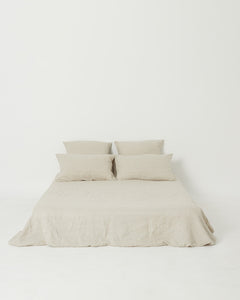 Linen Pillowcase Pair - Oatmeal - 100% French Flax Linen - Ginger Dream