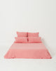 EXCLUSIVE COLOR - Salmon Rose 100% French Flax Linen Sheet Set - Ginger Dream