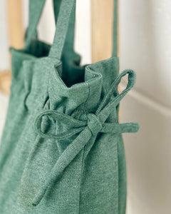 Ginger Dream Drawstring Bag - Forest Green - Cotton Linen - Ginger Dream