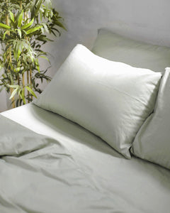 Green Lily Cotton Sheets Set - 300TC Long-Staple Cotton - Ginger Dream