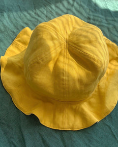 Ginger Dream Double-sided Linen Hat - 100% French Flax Linen - One Size - Ginger Dream