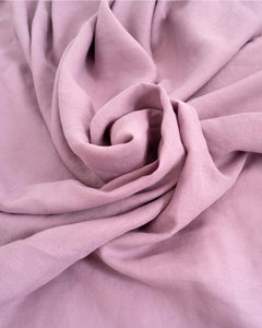 Misty Lilac 100% French Flax Linen Quilt Cover Set - Ginger Dream