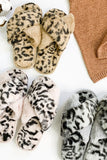Plush Leopard Slippers