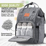 Gray Diaper Backpack