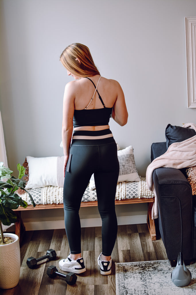 Black & Nude Leggings