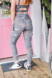 Army High Waist Pocket Leggings