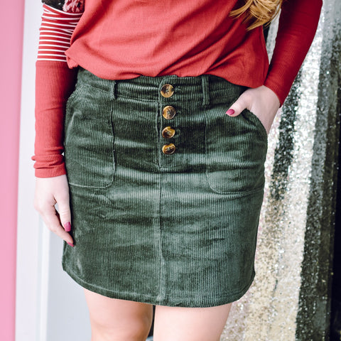 Teal & Grey Comfy Skirt