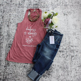 Kindness is Always in Style Mauve Tank