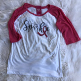 I Spread Sparkle Baseball Tee