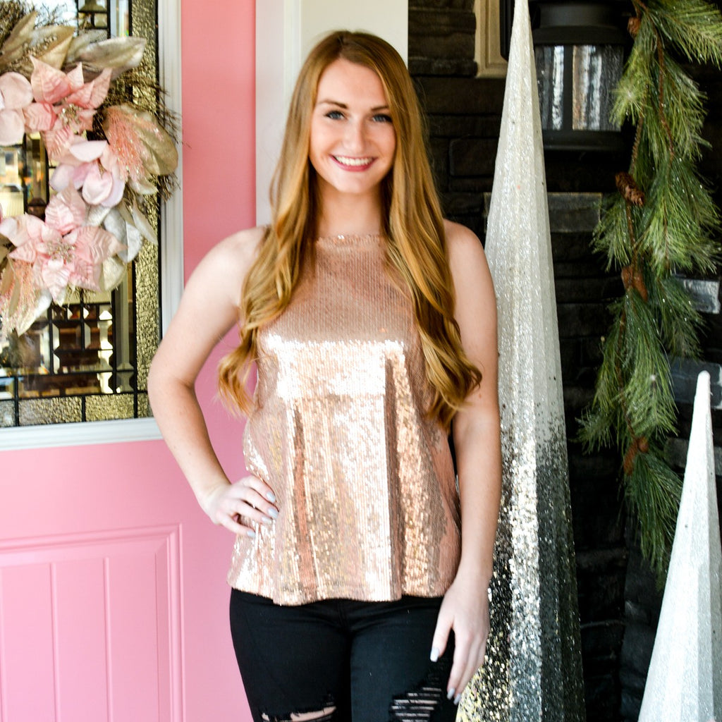 Champagne Sequin Tank