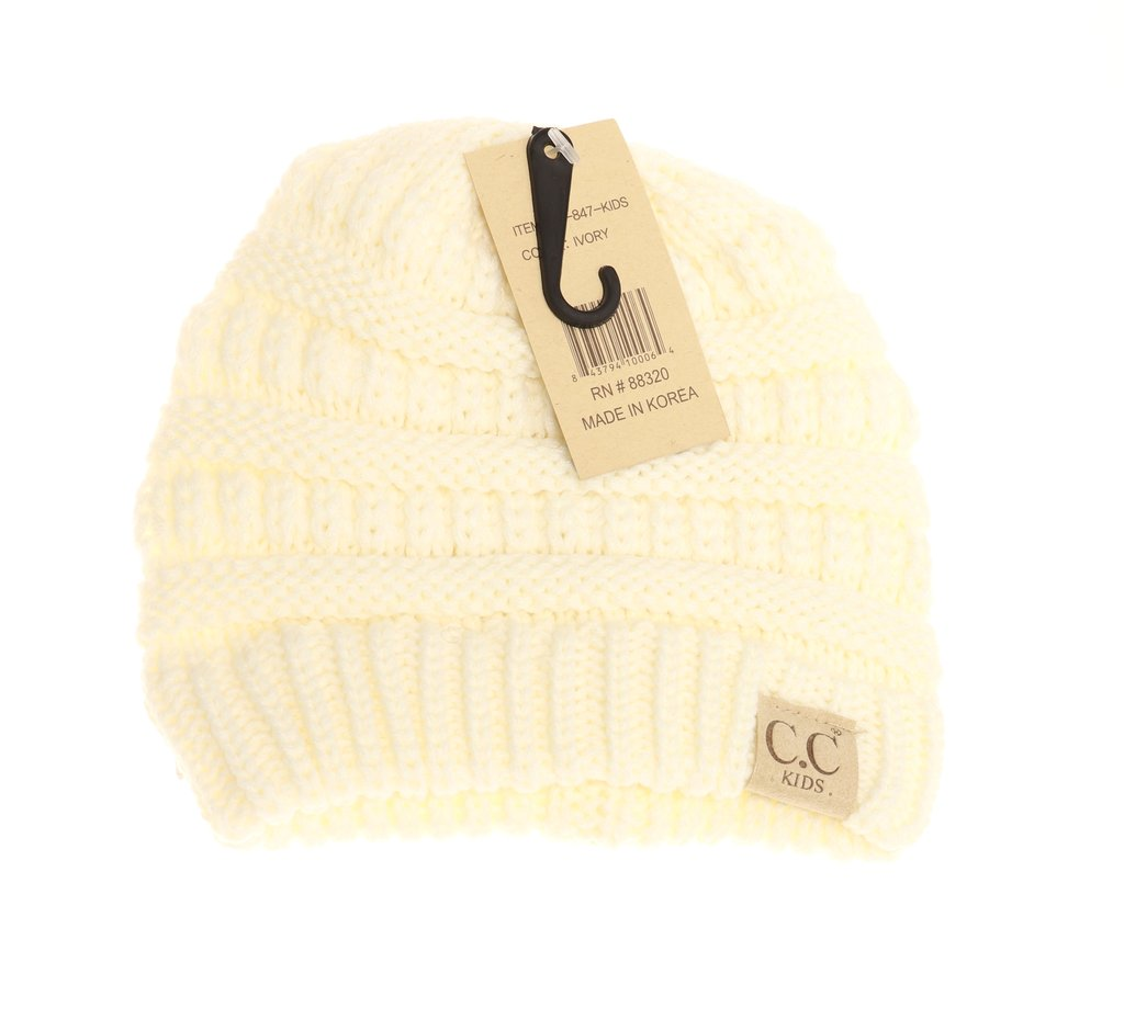 cc kids solid beanies