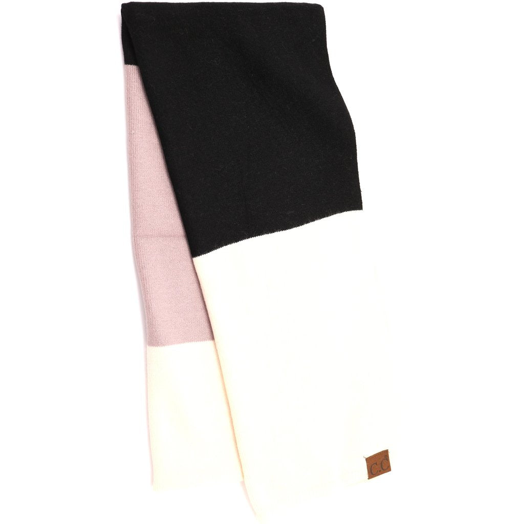 color block cc scarf