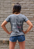 Sparkle…And Never Lose Hope! Short Sleeve V-Neck