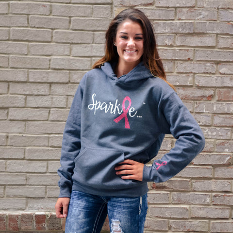 I Sparkle Chalk Striped Fleece Pullover