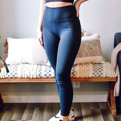Black Panel Leggings