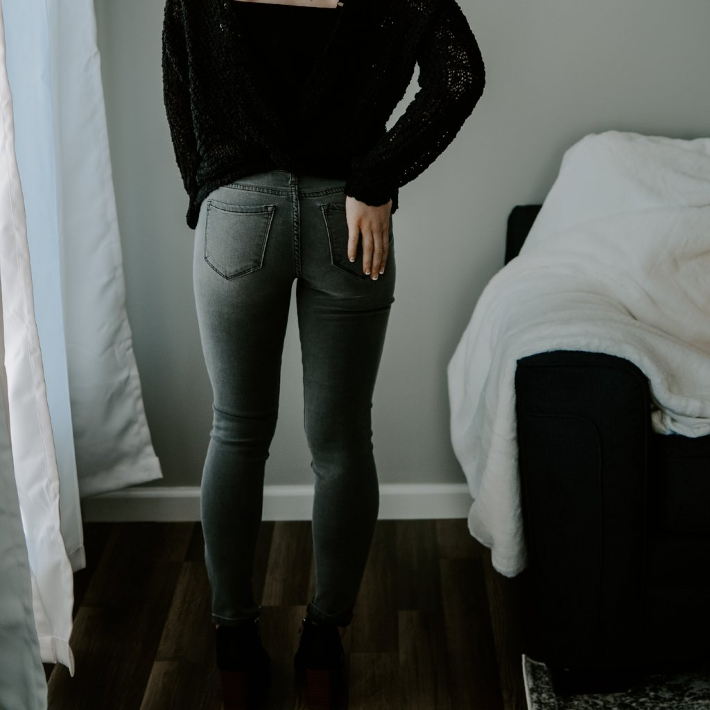Black Wash Out Skinny Jean