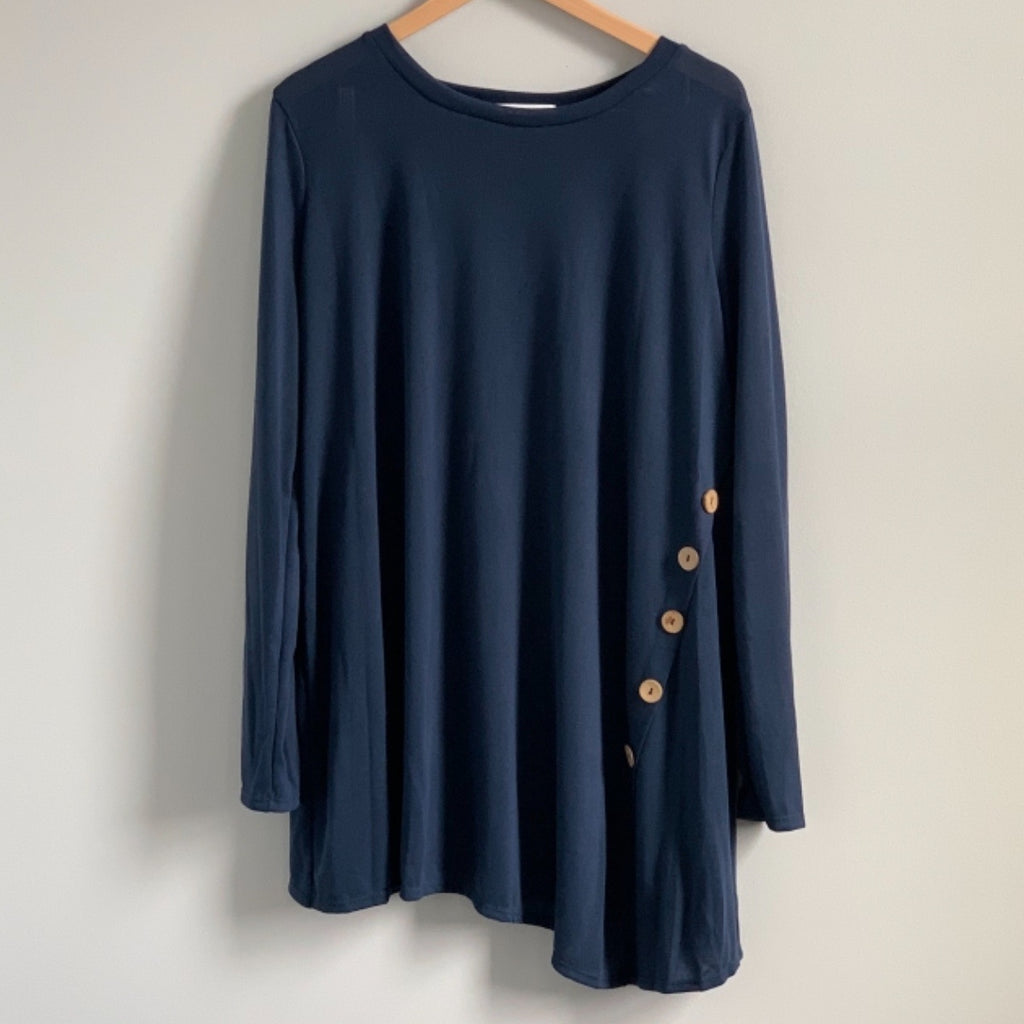Navy Button Tunic