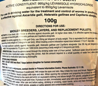 Levamisole Concentrate 100g Wormer