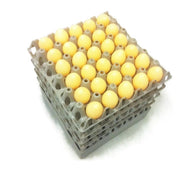 "20 x Grey Stackable Plastic ""30 Egg"" Trays"