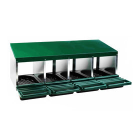 4-Hole Roll Away Steel Nest Box