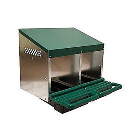 2-Hole Roll Away Steel Nest Box