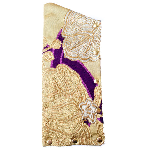 Kimono Silk Glasses Case 'Regal Purple Gold'